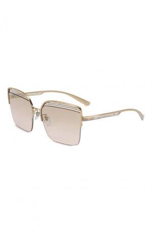 Солнцезащитные очки BVLGARI. Цвет: золотой