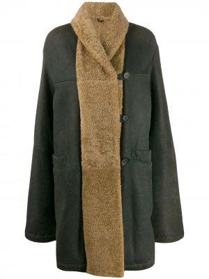 Пальто свободного кроя 1990-х годов Romeo Gigli Pre-Owned. Цвет: зеленый