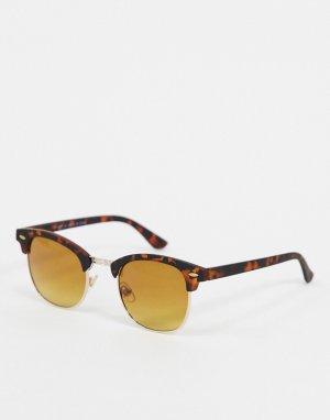 Черепаховые солнцезащитные очки в стиле ретро -Коричневый River Island