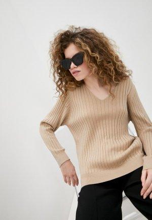 Пуловер Ichi. Цвет: бежевый