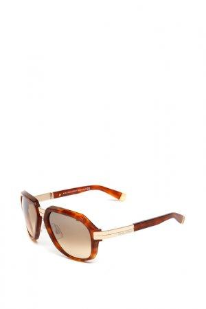 Очки солнцезащитные с линзами DSQUARED. Цвет: 53f коричневый, золотистый