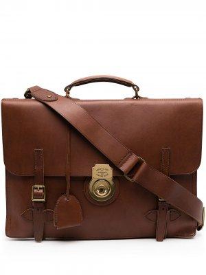 Портфель с пряжками Polo Ralph Lauren. Цвет: коричневый