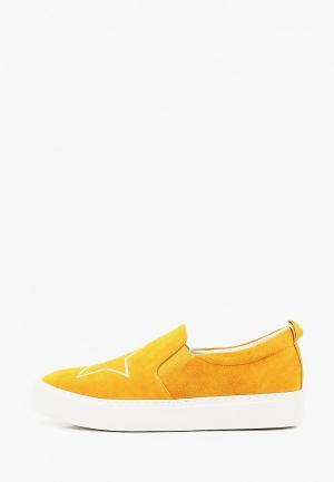 Слипоны Corso Como. Цвет: желтый