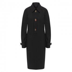 Хлопковое платье Bottega Veneta. Цвет: чёрный