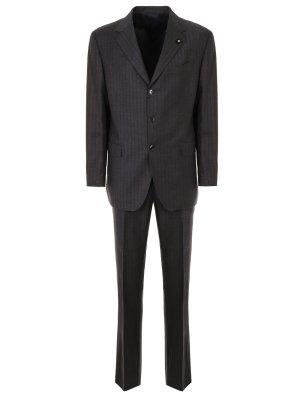 Классический шерстяной костюм LARDINI