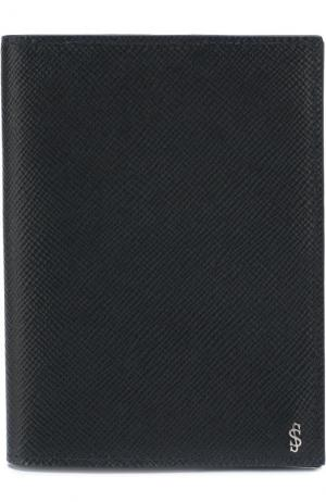 Кожаная обложка для паспорта Serapian. Цвет: темно-синий