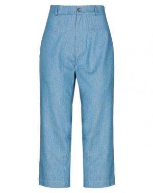 Джинсовые брюки-капри SOCIÉTÉ ANONYME. Цвет: синий