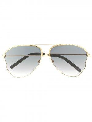 Декорированные солнцезащитные очки-авиаторы Matthew Williamson. Цвет: золотистый
