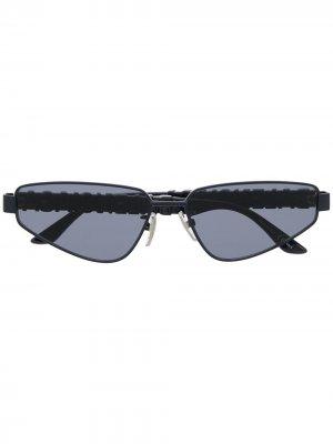Солнцезащитные очки с логотипом Balenciaga Eyewear. Цвет: синий