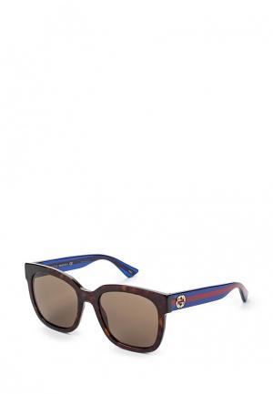 Очки солнцезащитные Gucci GG0034S 004. Цвет: коричневый