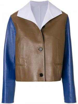 Куртка дизайна колор-блок Marni. Цвет: коричневый