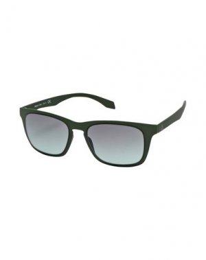 Солнечные очки ALSTECA. Цвет: зеленый-милитари