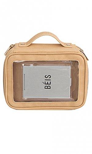 Дорожная сумка BEIS. Цвет: серо-коричневый