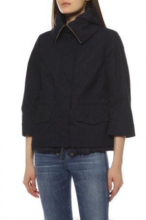 Куртка Moncler. Цвет: темно-синий