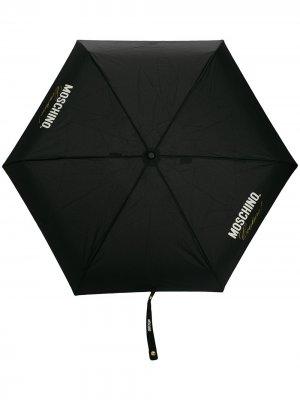 Зонт с принтом Moschino. Цвет: черный