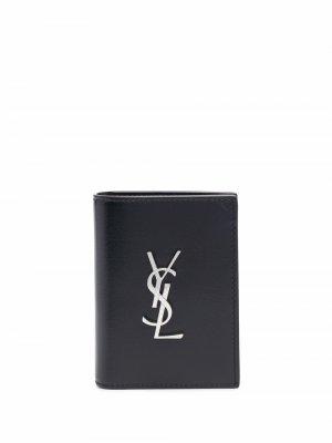Кошелек с логотипом Saint Laurent. Цвет: черный