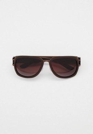 Очки солнцезащитные Thom Richard поляризованные линзы. Цвет: коричневый