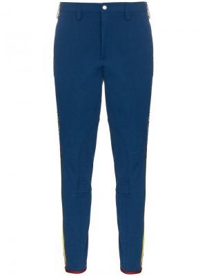 Габардиновые спортивные брюки Gucci. Цвет: синий