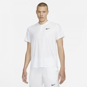 Мужская теннисная рубашка-поло Court Dri-FIT Advantage - Белый Nike