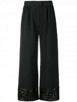 Sequins embellished flared trousers Gianluca Capannolo. Цвет: черный