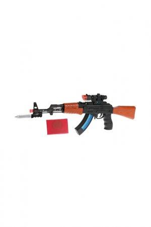 Автомат АК-47 с удостоверением Играем вместе. Цвет: черный