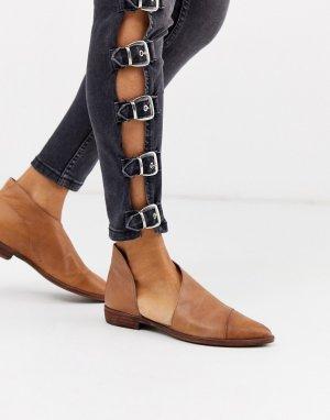 Туфли на плоской подошве -Коричневый Free People
