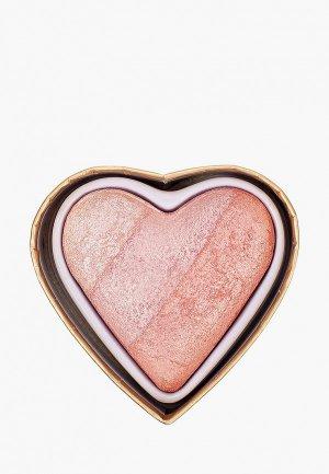 Румяна I Heart Revolution BLUSHING HEART, Peachy Pink Kisses, 10 г. Цвет: разноцветный