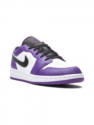 Кроссовки Air Jordan 1 Low (GS) Kids. Цвет: фиолетовый