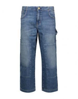 Джинсовые брюки-капри CURRENT/ELLIOTT. Цвет: синий
