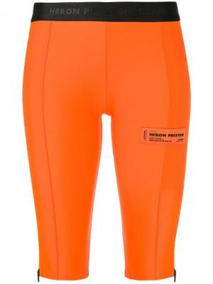 Велосипедные шорты по колено Heron Preston. Цвет: оранжевый