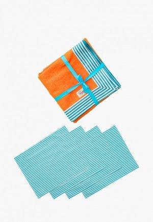 Набор кухонного текстиля Семейные ценности Морской пикник. Цвет: разноцветный