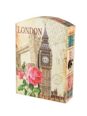 Ключница London Русские подарки. Цвет: черный, бежевый, красный
