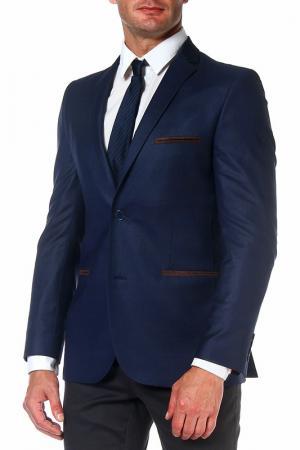 Пиджак mishelin. Цвет: синий, микродизайн, пиджак
