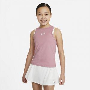 Теннисная майка для девочек школьного возраста NikeCourt Dri-FIT Victory - Розовый