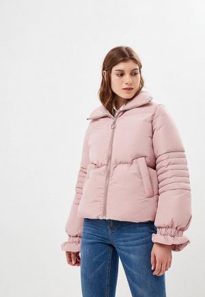 Куртка утепленная Lost Ink ZIP FRONT PADDED JACKET. Цвет: розовый