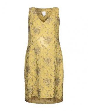 Короткое платье NOLITA. Цвет: кислотно-зеленый