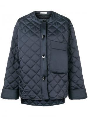 Стеганая куртка-бомбер Jil Sander. Цвет: синий