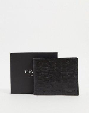 Бумажник с фактурой под крокодила Duchamp-Черный DUCHAMP
