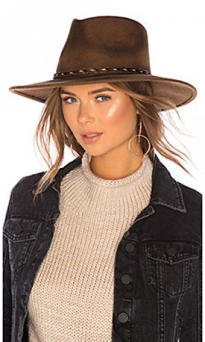 Шляпа roxy dene ale by alessandra. Цвет: коричневый