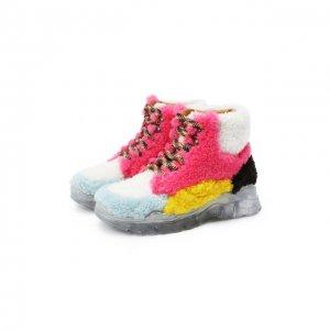 Меховые ботинки Gallucci. Цвет: разноцветный