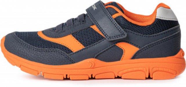 Кроссовки для мальчиков Torque, размер 33 Geox. Цвет: синий