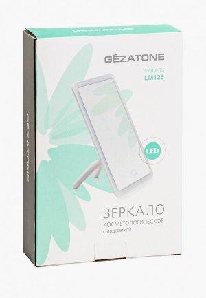 Зеркало Gezatone LM125 с подсветкой. Цвет: белый