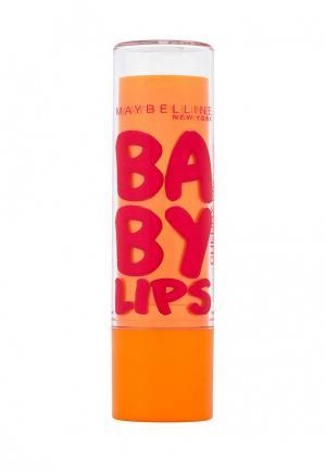 Бальзам для губ Maybelline New York Baby Lips, Вишня, с легким красным оттенком, 1,78 мл. Цвет: красный