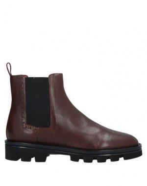 Полусапоги и высокие ботинки PAS DE ROUGE. Цвет: темно-коричневый