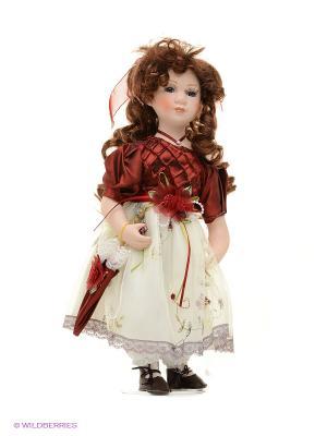 Кукла фарфор Венди 16 дюймов Angel Collection. Цвет: белый, бордовый