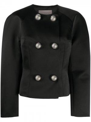 Двубортный пиджак Dome Christopher Kane. Цвет: черный