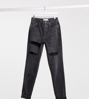 Черные выбеленные рваные джинсы в винтажном стиле Tall-Черный цвет Topshop