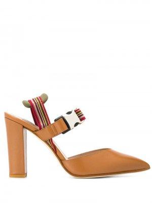 Туфли-лодочки Daisy Vacchetta Alberto Gozzi. Цвет: коричневый