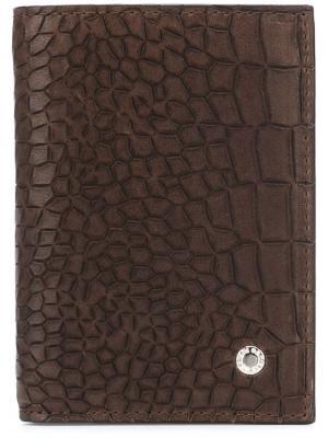 Визитница с эффектом крокодиловой кожи Orciani. Цвет: коричневый