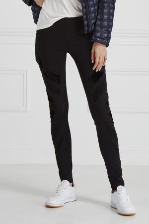 Зауженные черные джинсы Plein Sud. Цвет: черный